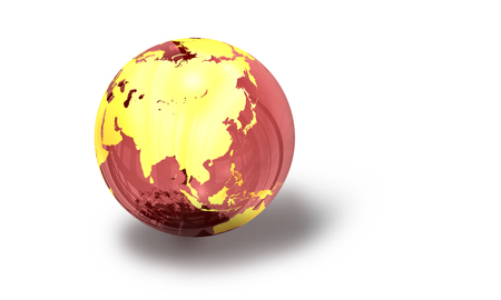 One of a series of 3d computer graphic renders.  Different views of a glass earth globe.