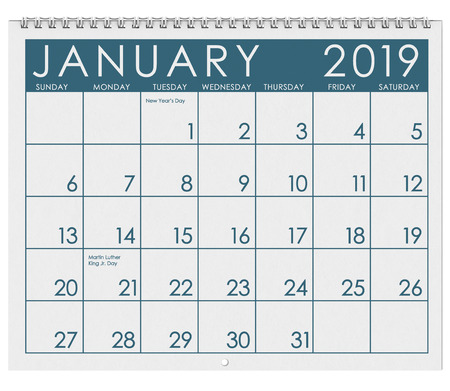 12 image series of months on the year in a 3d rendered calendar. January, February, March, April, May, June, July, August, September, October, November, December. Stock Photo