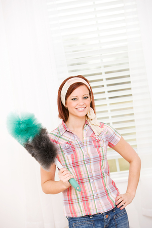 Extensive series on Spring Cleaning, with a pretty female.  Lots of buckets, sponges and brooms!