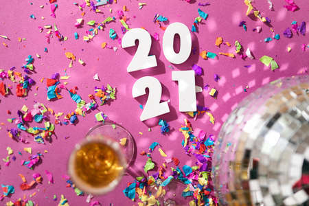 Extensive series celebrating the new year with bright colors and confetti.