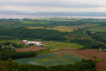 famous industries: View from above. Minas Basin below.
