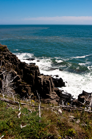 Basalt pillars along the Fundy coast.