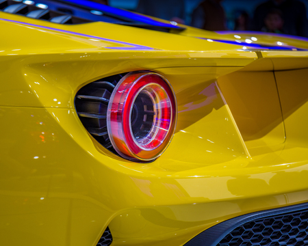 2016 Ford GT in Yellow, close detal.