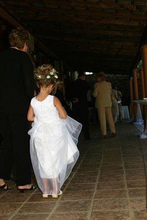 flowergirl: Flower girl waiting for bride