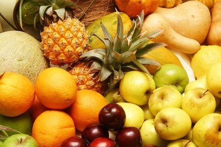 Plato de frutas  Foto de archivo - 205486