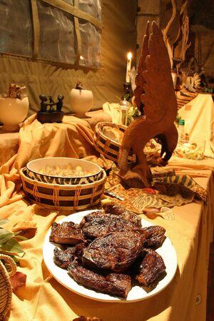 dinnertime: dinnertime on safari Stock Photo