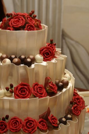 pastel de bodas: Chocolate blanco pastel de bodas