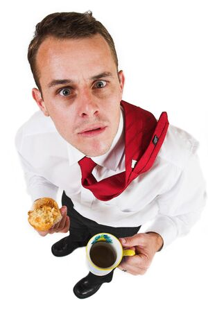 baffled: Business man taking a break Stock Photo