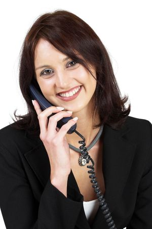Business woman on the telephone Stock Photo