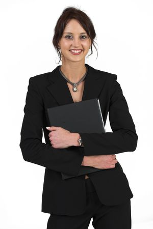 Business woman with black file
