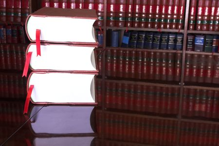 Legal books on table - South African Law Reports Stock Photo - 232295