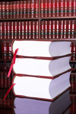Legal books on table - South African Law Reports Stock Photo - 232294