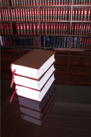 Legal books on table - South African Law Reports Stock Photo - 232290