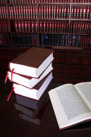Legal books on table - South African Law Reports Stock Photo - 232289