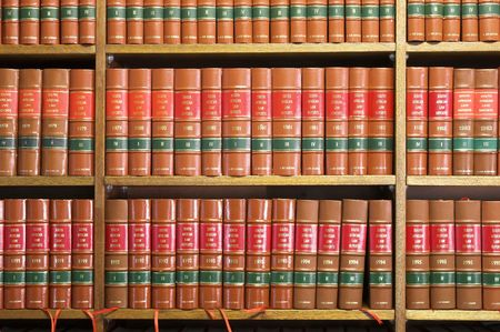 law office: Legal Library in wooden bookcase
