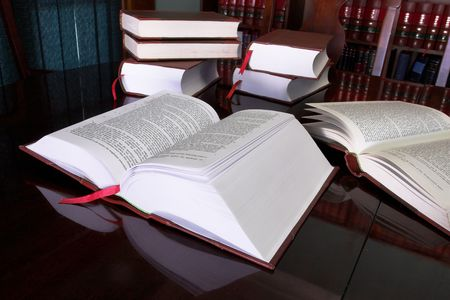 Legal books on table - South African Law Reports Stock Photo - 233174