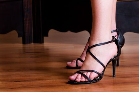 Black sandals Stock Photo