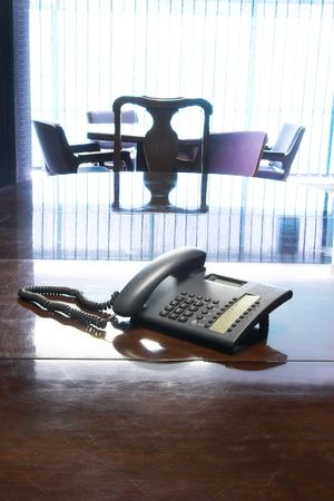 PABX Telephone on boardroom table