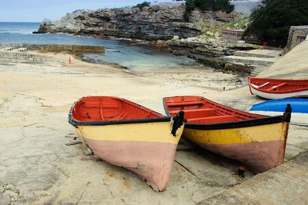 derelict: Derelict boats on Hermanus Harbour, South Africa Stock Photo