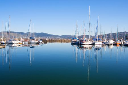 drydock: Boats at Knysna Harbour, South Africa