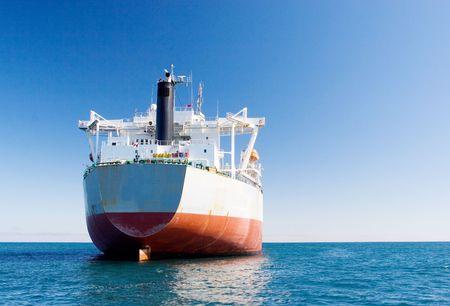 Weiß und rot Öltankschiff - Copy space