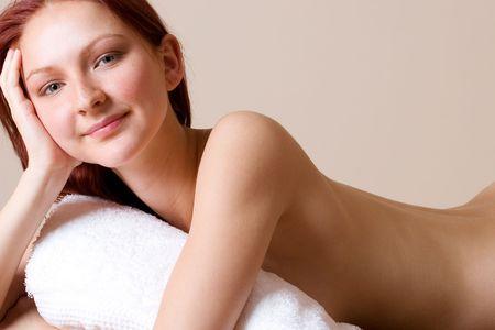Woman,  in beauty salon Stock Photo