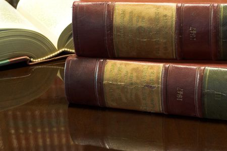 Legal books on table - South African Law Reports Stock Photo - 258433