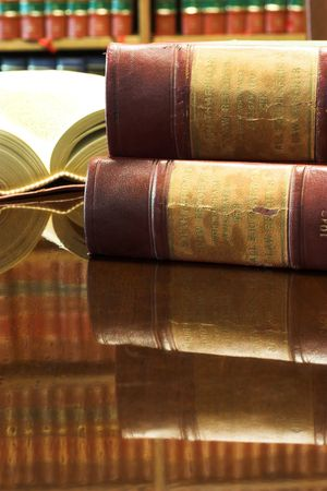 Legal books on table - South African Law Reports Stock Photo - 258432