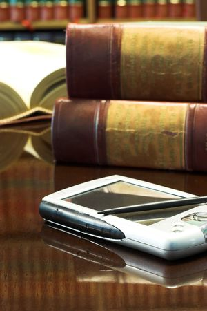 Legal books on table - South African Law Reports Stock Photo - 262870