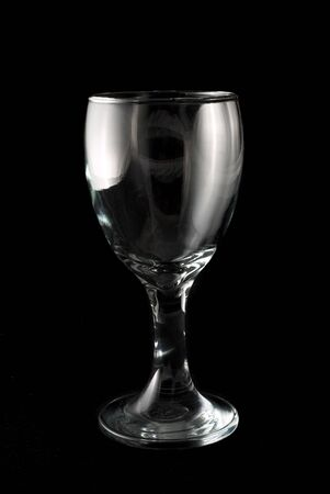 Wine glass on black background Stock Photo - 262689