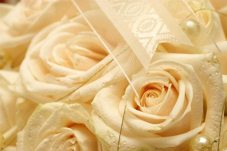 close-up of a roses in a wedding bouquet.  Shallow DOF Stock Photo - 272405