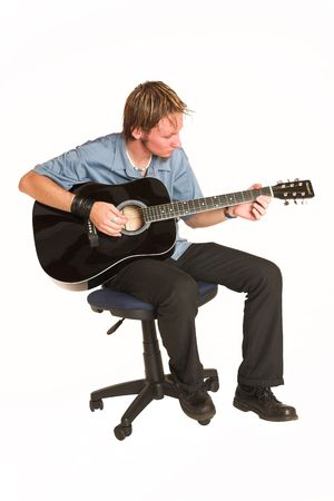 Young man with guitar. photo