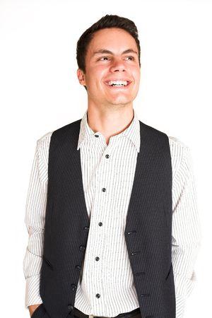 mascular: Businessman smiling.  Portrait.