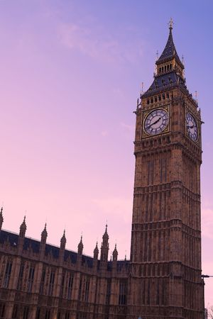 Big Ben in the late afternoon - just before sunset photo