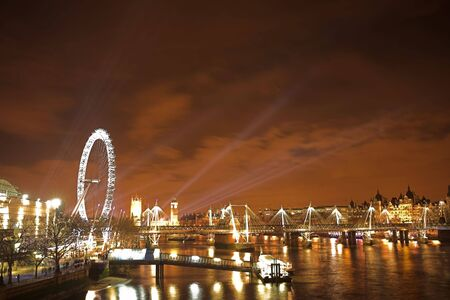 newyear night: New years over the river Thames