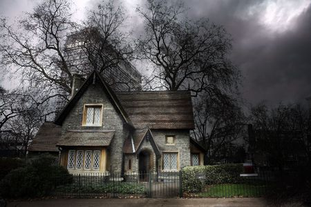 haunted house: Haunted house in London Stock Photo