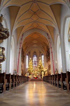 Interior of church in Kirchberg, Germany. Stock Photo - 345230