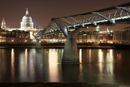 Cityscape at nighttime  in London. Stock Photo - 345208