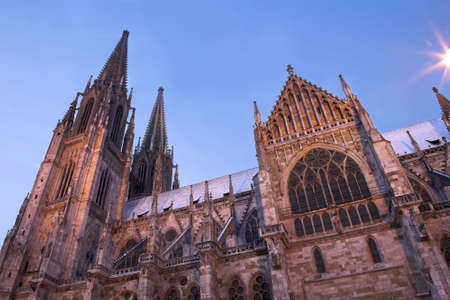 regensburg: Cathedral in Regensburg, Germany Stock Photo