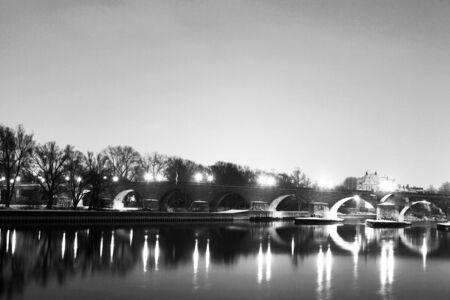 regensburg: Bridge in Regensburg, Germany Stock Photo
