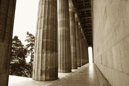 regensburg: Pillars in Regensburg, Sepia