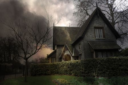 Haunted house in London Stock Photo