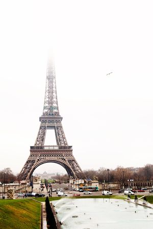 The Eiffel Tower in Paris, France. Copy space. Stock Photo - 376935