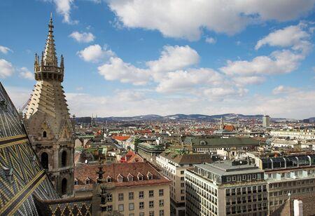 dom: La ligne d'horizon de Vienne et St Stephens DOM tour  Banque d'images