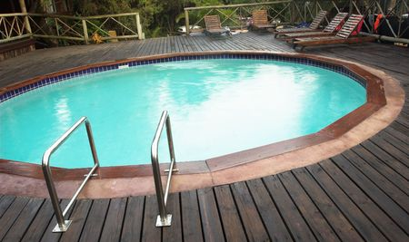 Exterior of a swimming pool in a lodge in Sudwana, South Africa. photo