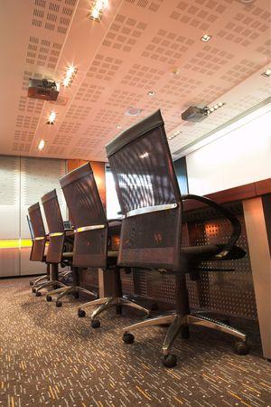 Modern interior of a boardroom. photo