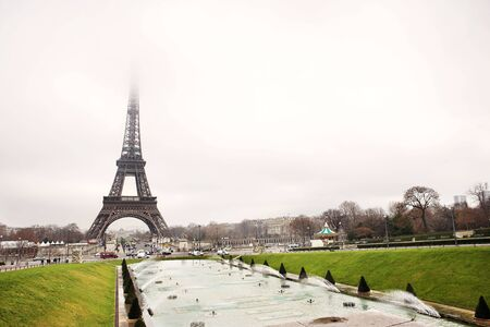 The Eiffel Tower in Paris, France. Copy space. Stock Photo - 441903