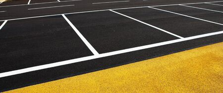 A newly painted parking lot.  Copy space. Stock Photo - 488142
