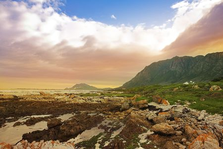The storm has passed - Rocky Beach, Betty�s bay - Western Cape, South Africa Stock Photo - 488133