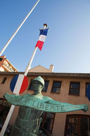 maritimes: The Statues in Freedom Square, St Raphael, France